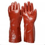 PVC Gloves Red Long