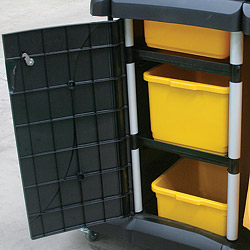 Clean-up Cart Access Doors and Aluminium Frame