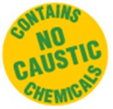 Contains no caustic chemicals