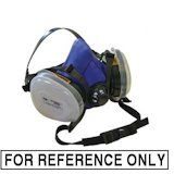 image of a cartridge filtered respirator is for reference only