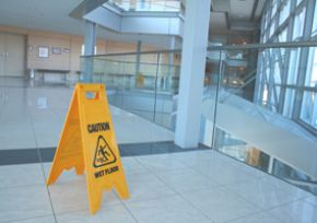 residual chemicals and slippery floors